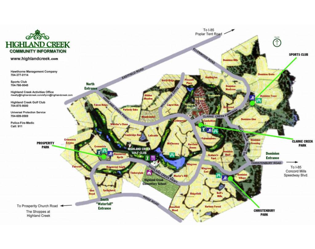 Maps Highland Creek